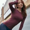 秋运动上衣女跑步速干健身服长袖T恤网红性感紧身显瘦训练瑜伽服