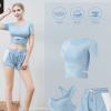 2020新款夏季瑜伽服运动套装女跑步速干大码时尚健身服运动套装女