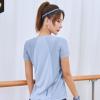 新款宽松短袖t恤女网纱拼接透气速干健身衣运动休闲百搭瑜伽服