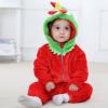 外贸婴儿衣服 秋冬款法兰绒动物造型爬服 ins新款童装新生儿服装