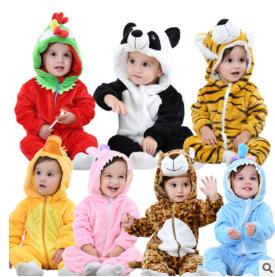 婴儿连体衣秋冬新生儿衣服冬季加厚男女宝宝爬爬服哈衣外出服保暖