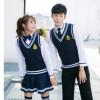 秋冬韩版 学生校服 潮流班服 情侣JK制服 合唱服毛线背心套装