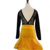 2018儿童舞蹈裙秋季拉丁舞练功服长袖分体拉丁套装女童比赛服