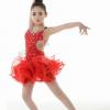 女童舞蹈服拉丁舞考级练功服锦纶/尼龙儿童拉丁舞裙少儿演出服装