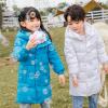厂货通2020冬季新品中长款儿童羽绒服过膝韩版加厚男童女童中长款