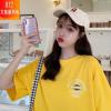 网红同款2020年夏季中长款宽松版型字母印花圆领甜美小姐姐T恤潮