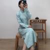 原创定制加工新中式改良旗袍连衣裙传统风格倒大袖设计复古旗袍