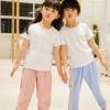 夏季薄款儿童学生棉麻多彩纯色运动裤