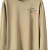 2019新款长袖圆领套头字母欧美青年无领男式直筒型T恤厂家直销