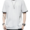 2020夏季新款男士休闲纯色圆领宽松百搭韩版T恤简约短袖t恤
