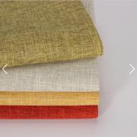 高品质彩色仿亚麻涤纶亚麻外观沙发内饰面料