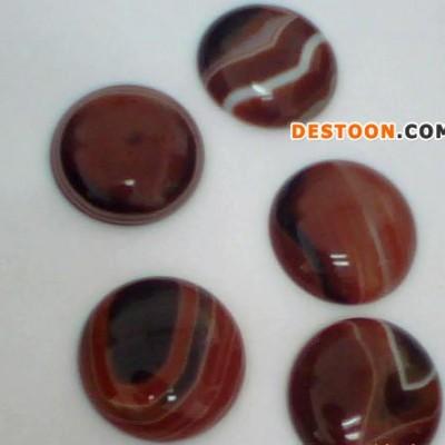 (天然玛瑙专卖店)加工批量生产专用戒面玛瑙饰品配件条纹红玛瑙