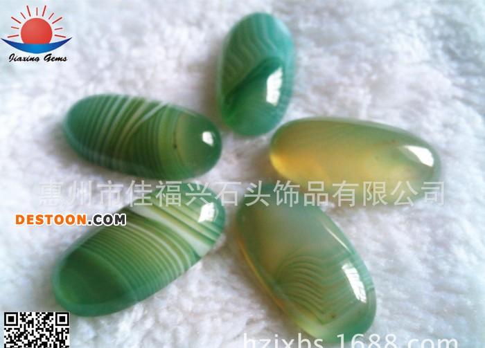 惠州宝石生产 DIY饰品玛瑙 条纹玛瑙 可订做多种形状规格戒面