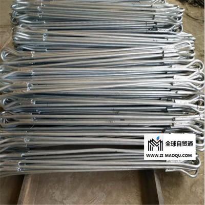 双耳拉线棒 圆钢直径1.8米长拉线棒 海虹镀锌铁附件