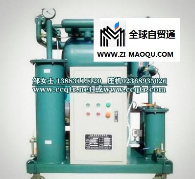 TR/通瑞牌ZJB-10超高绝缘油真空净化设备|单级真空滤油