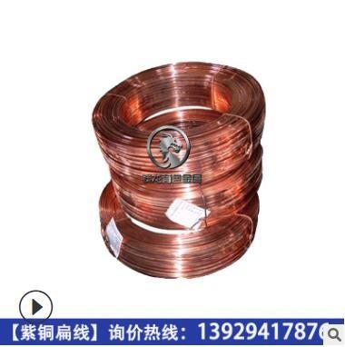 LED灯接地用紫铜扁线 国标环保T2/c1100半硬软态纯铜扁条 无毛刺