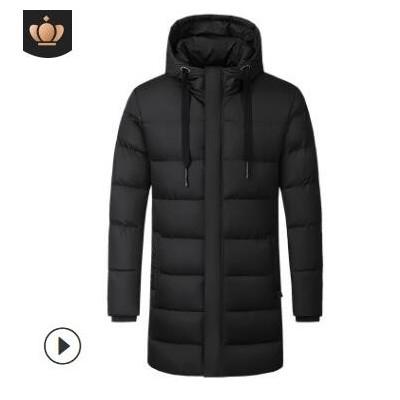 一笔成冬季加厚长款发热羽绒棉衣加热外套USB电热衣服保暖棉袄新