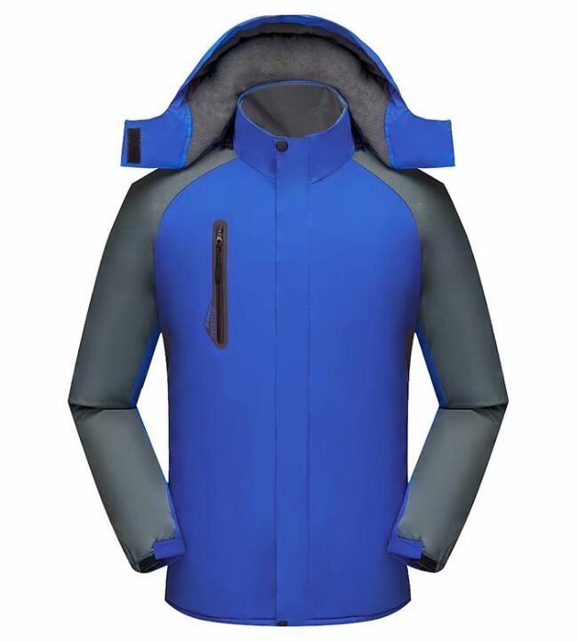 加厚冲锋衣定制刺绣印Logo登山服男女防寒耐磨工作服保暖外套批发