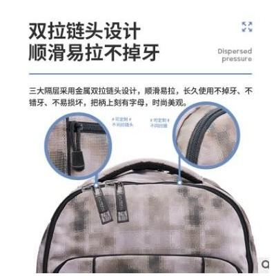 双肩包男休闲背包时尚潮流大学生书包ins简约旅行电脑包可定制款