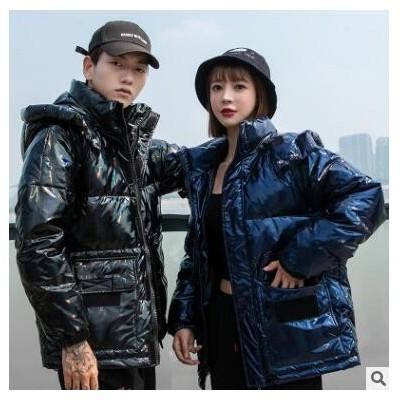 新款亮面白鸭绒男女情侣羽绒服高端高品质爆款外套