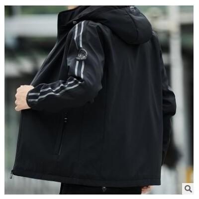 男士外套春秋2020新款帅气潮流夹克秋冬季工装薄款加绒运动上衣