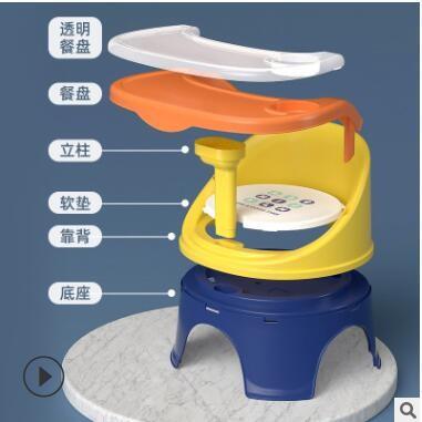 宝宝吃饭餐椅叫叫椅儿童椅子座椅塑料靠背椅餐桌椅卡通小椅子板凳