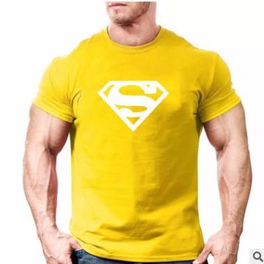 夏季棉质休闲个性印花T恤,男士新款短袖T恤多色可选