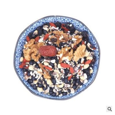 核桃桑葚五黑粥营养食品五谷杂粮黑玉米黑芝麻黑豆营养早餐代餐粥