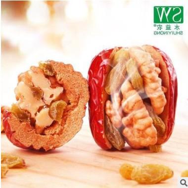 红枣夹核桃葡萄干500g1袋和田枣夹核桃仁 不满意包退货