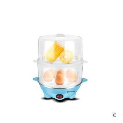 口吕品迷你多功能双层煮蛋器不锈钢蒸蛋器自动断电家用小型早餐机