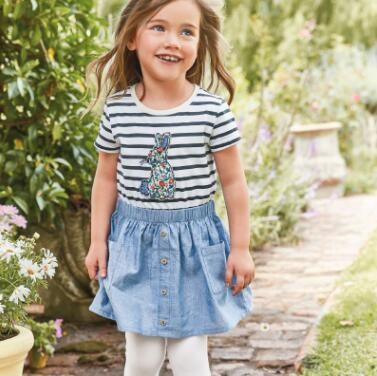 夏季新款裙子女童连衣裙儿童可爱梭织连衣裙欧美童裙