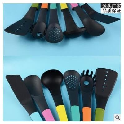 现货代发多彩厨房尼龙厨具6件套不粘锅烹饪铲勺套装厨具套装