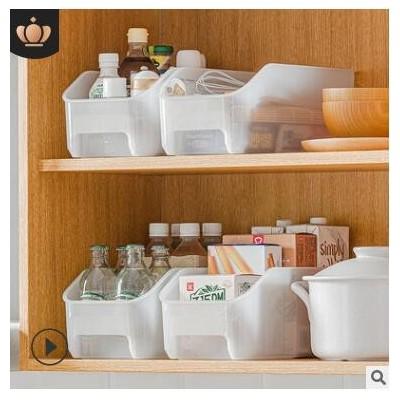 纳川果蔬冰箱收纳盒批发塑料PP透明长方形抽屉式冷冻食物保鲜盒