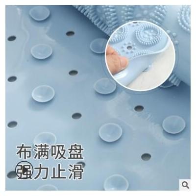 新款PVC圆形浴室防滑垫 家用淋浴房疏水速干吸盘地垫卫浴按摩脚垫