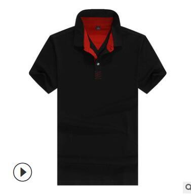 纯棉翻领t恤短袖Polo广告t恤 定制翻领工作服短袖广告工衣订制