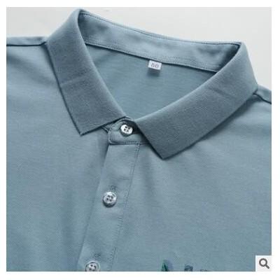 男士t恤 2021夏季新款都市休闲时尚大码薄款短袖Polo衫