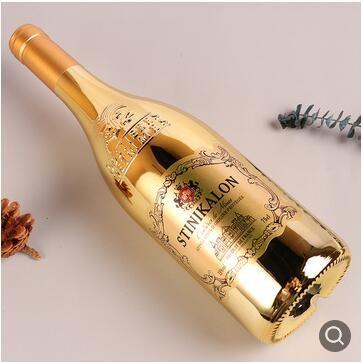 法国红酒 雕花镀金尼姆瓶干红葡萄酒批发春节礼盒装红酒代发酒水