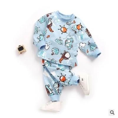 童装 秋款卡通儿童t恤冬童裤家居服套装婴儿 宝宝两件套长袖春