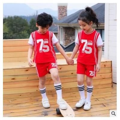 夏小学生校服儿童篮球服儿童幼儿园团体班服定制运动两件套装