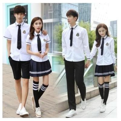 学院风英伦校服套装夏季高中学生韩国jk制服班服男女毕业拍照服装