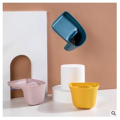 厨房水槽沥水收纳篮吸盘式置物架厨房用品洗碗抹布筷子杂物收纳筐