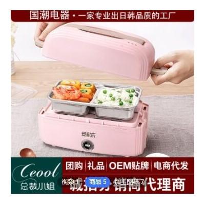 车载两用便携式电热饭盒单双层自热可插电家便当加热饭盒