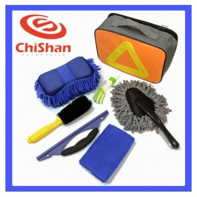 汽车洗车刷子工具清洁用品海绵擦车块七件套装刮板毛巾可定制