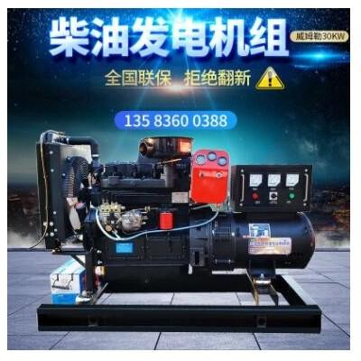 柴油发电机组 30kw50kw75kw100柴油发电机组小型备用应急发电机组